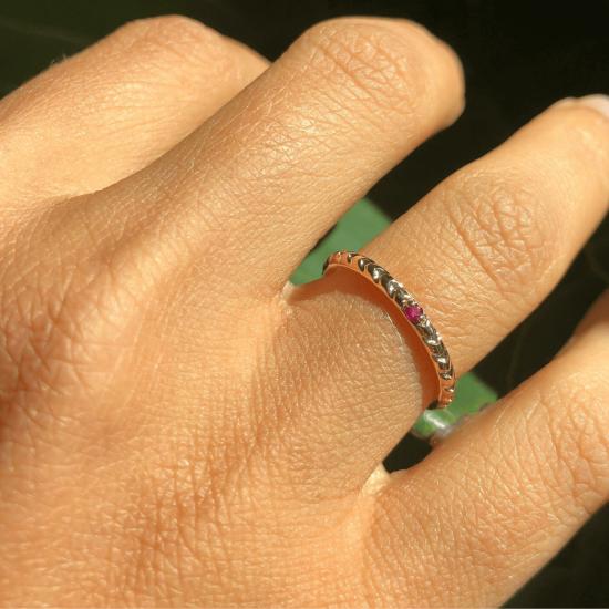Кольцо с рубином,  Больше Изображение 2