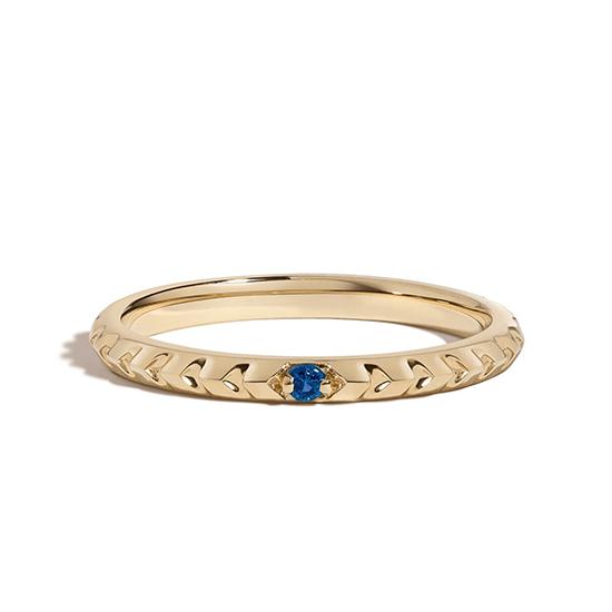 Кольцо с сапфиром из золота, Больше Изображение 1