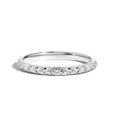 Кольцо тонкое с бриллиантом