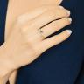 Кольцо дорожка с бриллиантами и изумрудом маркиз, Изображение 3