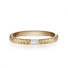Кольцо из золота с бриллиантом эмеральд