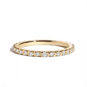 Кольцо дорожка из золота с бриллиантами
