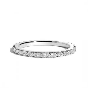 Кольцо дизайнерская дорожка с бриллиантами