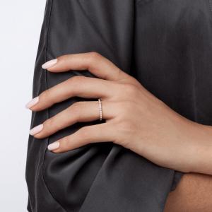 Современное кольцо дорожка с бриллиантами