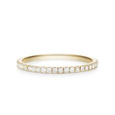 Кольцо дорожка с бриллиантами из золота