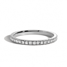 Кольцо классическая дорожка с бриллиантами