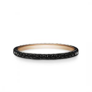 Кольцо дорожка с черными бриллиантами