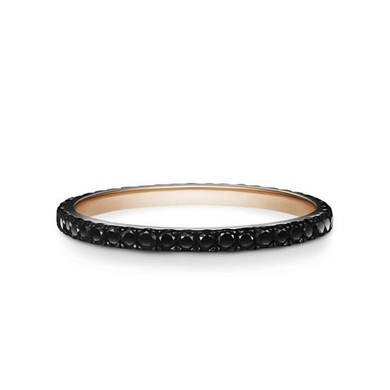 Кольцо дорожка из черных бриллиантов, Больше Изображение 1