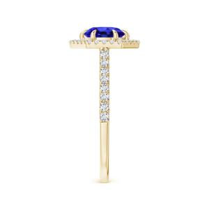 Кольцо золотое с танзанитом и бриллиантами