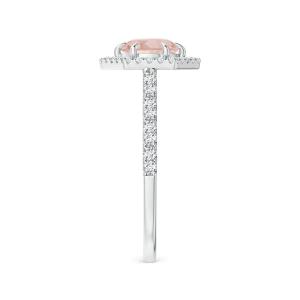 Кольцо с морганитом в бриллиантовом ореоле