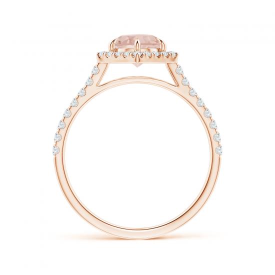 Кольцо с морганитом и бриллиантами,  Больше Изображение 2