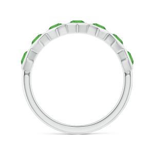 Кольцо дорожка с изумрудами Miel