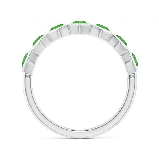 Кольцо дорожка с 7 изумрудами Miel,  Больше Изображение 2