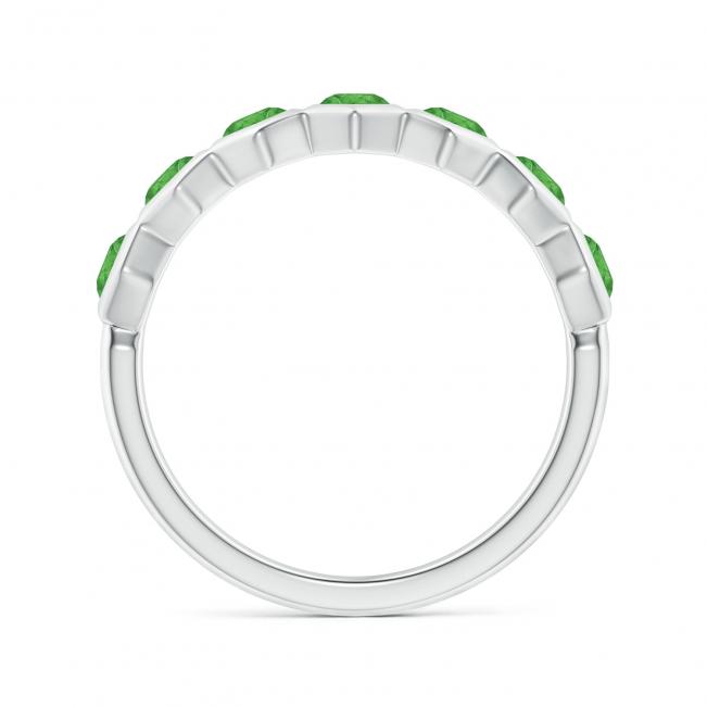 Кольцо дорожка с 7 изумрудами Miel