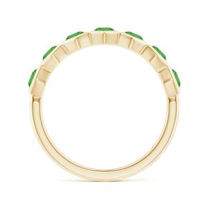 Кольцо золотое дорожка с изумрудами Miel