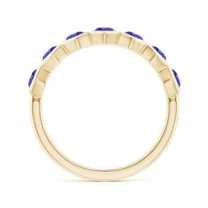Кольцо золотое дорожка с танзанитами Miel