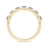 Кольцо золотое дорожка с танзанитами Miel, Изображение 2