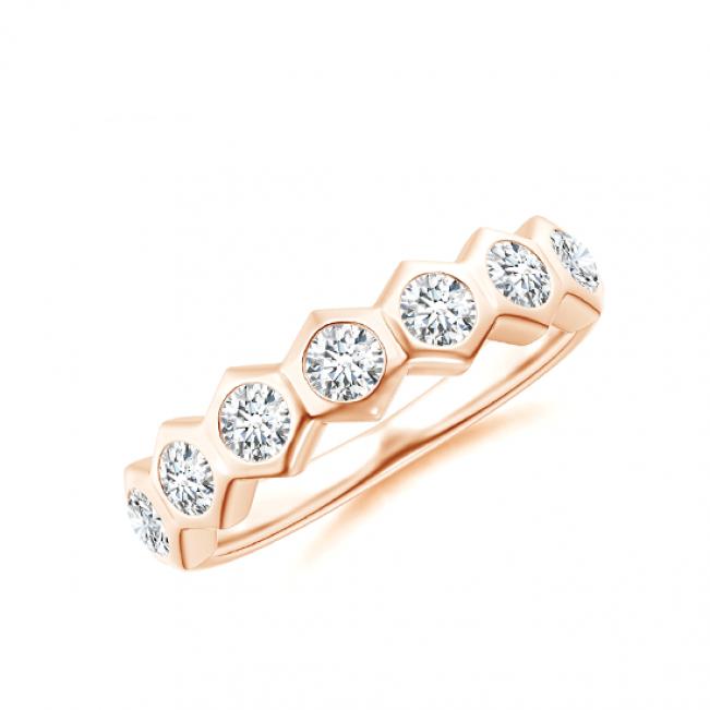 Кольцо дорожка с бриллиантами Miel