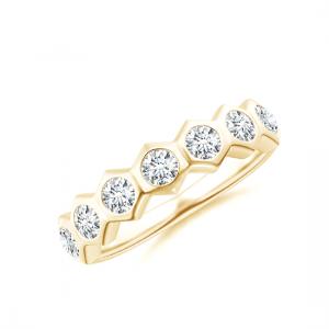 Кольцо золотая дорожка с бриллиантами Miel