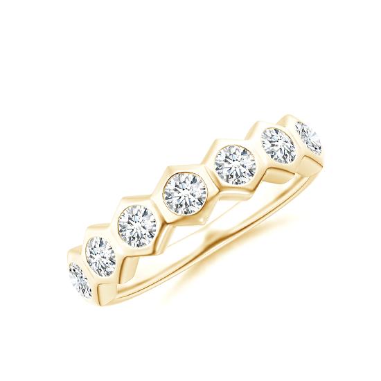 Кольцо золотая дорожка с бриллиантами Miel, Больше Изображение 1