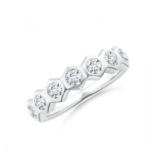 Кольцо дорожка с 7 бриллиантами Miel