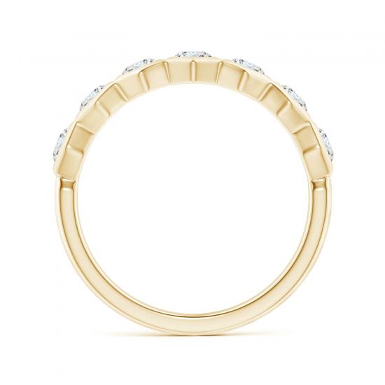 Кольцо золотая дорожка с бриллиантами Miel,  Больше Изображение 2