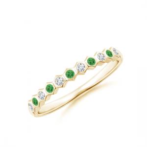 Дорожка чередование с бриллиантами и цаворитами Miel