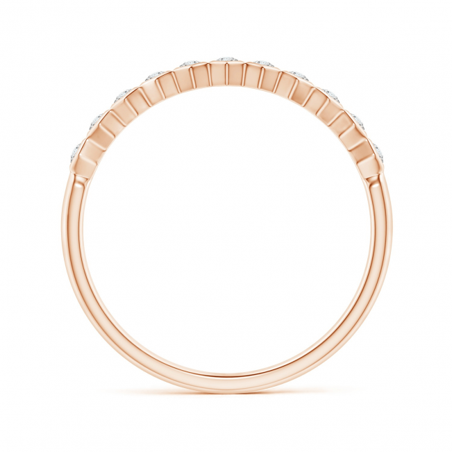 Кольцо тонкая дорожка с белыми бриллиантами Miel