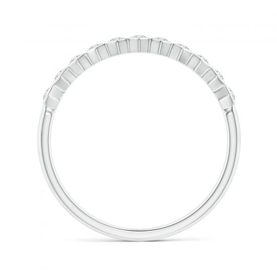 Кольцо тонкая дорожка соты с 11 бриллиантами Miel,  Больше Изображение 2