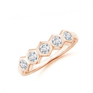 Кольцо дорожка с 5 бриллиантами Miel