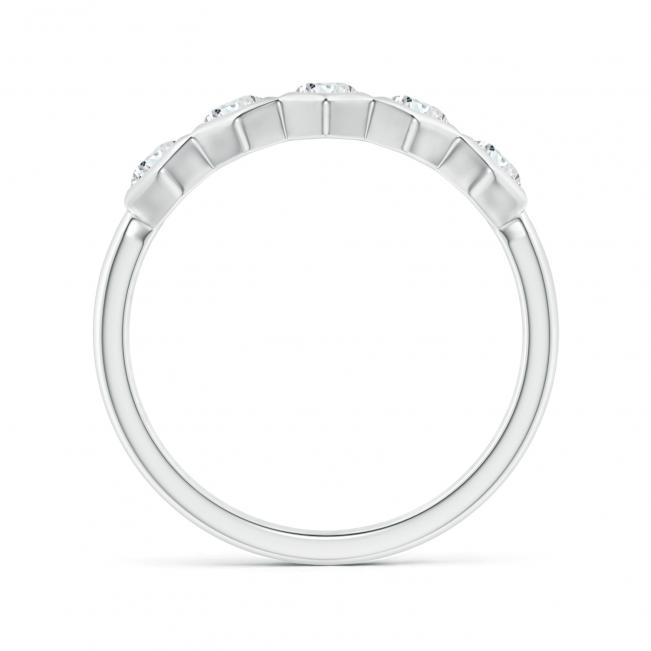 Кольцо дорожка соты с 5 бриллиантами Miel - Фото 1