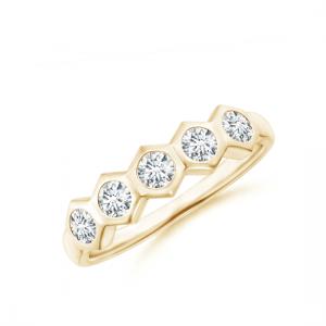Кольцо золотое дорожка с бриллиантами Miel