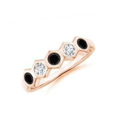 Кольцо дорожка с цветными бриллиантами Miel