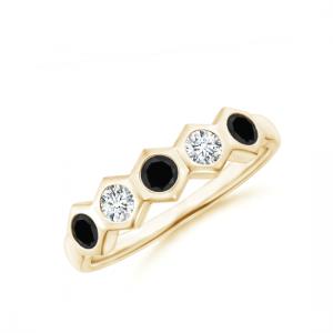Кольцо дорожка с разными бриллиантами Miel