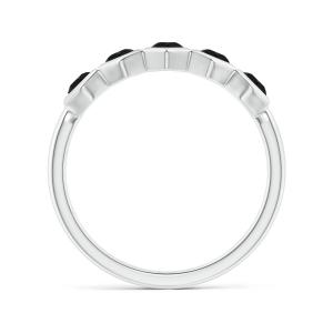 Кольцо дорожка с черными бриллиантами Miel