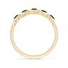 Кольцо из холота дорожка с черными бриллиантами Miel, Изображение 2