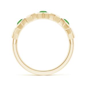 Кольцо дорожка с цаворитами Miel из золота