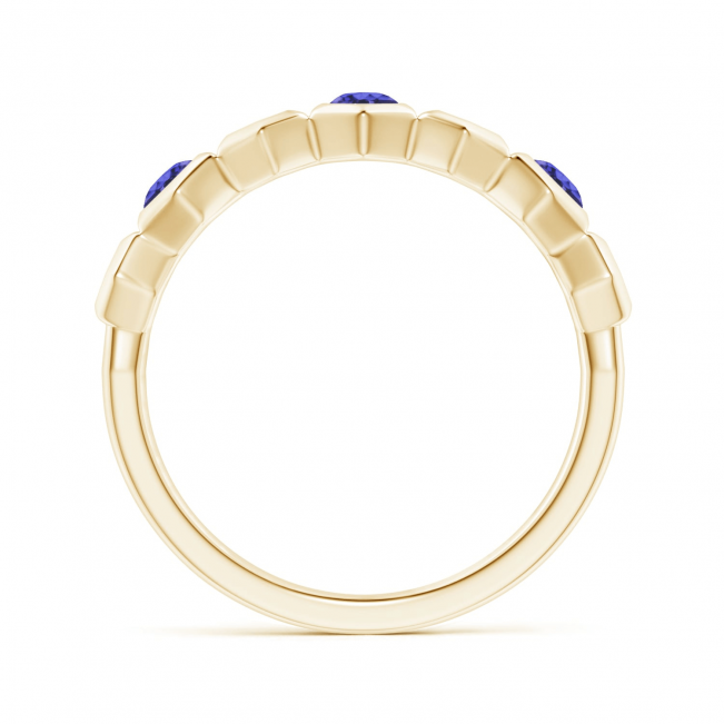 Кольцо дорожка с танзанитами Miel из золота