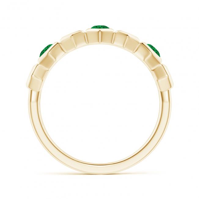 Кольцо дорожка с изумрудами Miel из золота