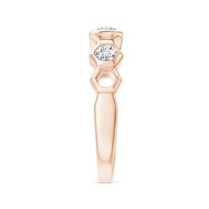 Кольцо дорожка с 3 бриллиантами Miel - Фото 2