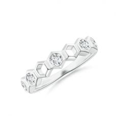 Кольцо дорожка с 3 бриллиантами соты Miel