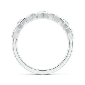 Кольцо дорожка с 3 бриллиантами соты Miel - Фото 1