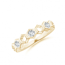 Кольцо дорожка с белыми бриллиантами Miel