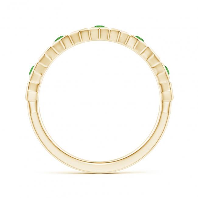 Кольцо дорожка Miel из золота с цаворитами