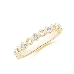 Кольцо тонкая дорожка из золота Miel с бриллиантами