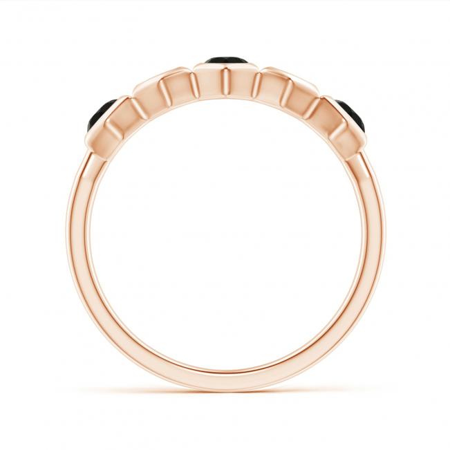 Кольцо дорожка Miel с черными бриллиантами