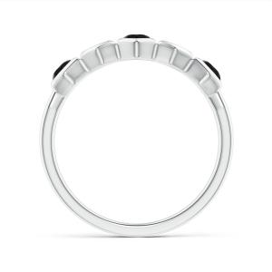Кольцо дорожка 3 черными бриллиантами Miel