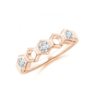 Кольцо дорожка Miel с бриллиантами в сотах