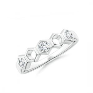 Кольцо дорожка Miel с 3 бриллиантами