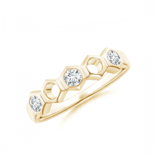 Кольцо золотое дорожка Miel с 3 бриллиантами